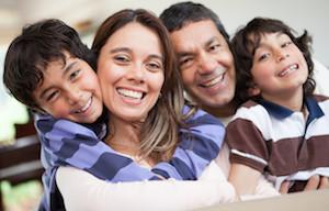 A family smiles together | Dental Exam Gaithersburg