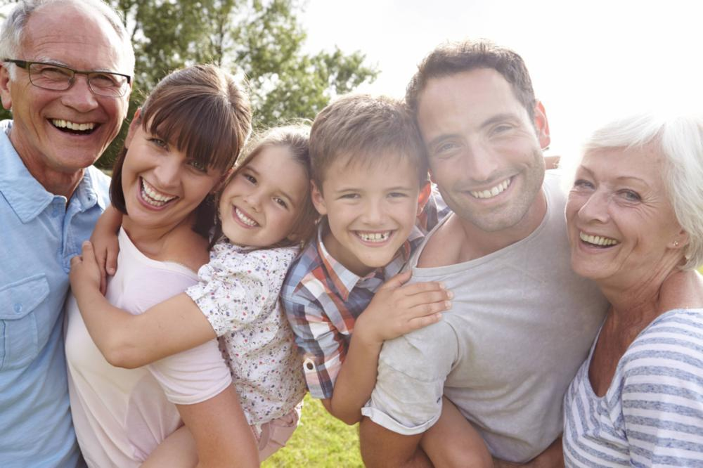 A family smiles | family dentist in gaithersburg MD